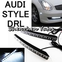 High Quality 2pcs/lot 9 LED Car DRL Driving Super Bright Daytime Running Light Lamp 12V