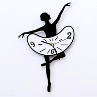 wall sticker clock home decoration acrylic wall clocks  ballet-dancer European decorative clock silent movement plus size