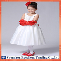High Quality Baby Girls Satin Noble Princess Girls Party Dresses