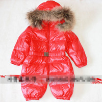 Freeshipping 1pcs Winter Baby Warm Down Romper Fashion Bodysuits Baby Jacket