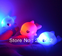 Free Shipping 36pcs/lot 3*4CM soft TPR led flashing dolphins ring novelty ring for birthday party decorations kids