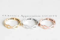"Wholesale 10 pcs/lot For Infinity Finger midi Ring With Letter ""I LOVE YOU"" logo Free Shipping"