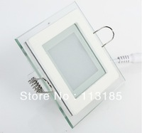 Hotsale LED SMD5730 High Brightness 9W Glass LED Panle Light 900lm High Power LED Ceiling Light Epistar Chip DHL Free Shipping