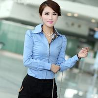 2014 Spring Summer Blouse Women Plus Size L-4xl 5xl (bust118cm) Female Cotton Clothing Woman Shirts Free Shipping xxxxl xxxxxl