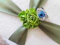 2013 BU brand Fashion European Style ablue with Svarovski crystal Ring fashion metal Ring Free Shipping