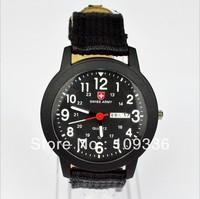 New Fashion Men Swiss Army Pilot General Canvas Belt Luminous Watch With Week Date Sports Watch Best Gift Children Free Shipping
