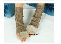 Winter Winter woman wool knitted gloves short paragraph diamond half finger gloves mittens gloves