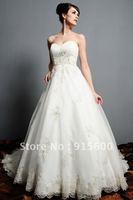 New fashion white/ivory wedding dress custom size 2-4-6-8-10-12-14-16-18-20-22++dddfac