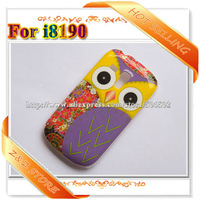 1 Piece Cute OWL Cases for Samsung Galaxy S3 Mini I8190 Free Shipping