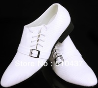 Fashion 2013  Male New Korean British Wind pointed white casual  men's shoes