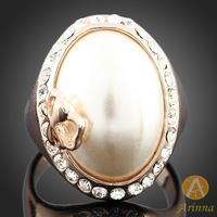 [Arinna Jewelry] Fahion Korea vintage exaggerate pear rings jewelry with crystal around hot sale gold rings for women 2013 J3029