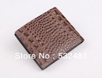 2013 Alligator Pattern genuine cow leather Brown standard wallet Hot sale and free shipping men wallets