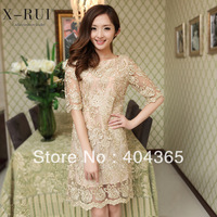 plus size embroidery lace crochet blouses top brand womens shirts 2013 new fashion ls010