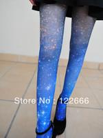 Freeshipping 3pairs/lot Spank HARAJUKU gradient galaxy print psychedelic pantyhose TDX-80
