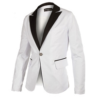 2014 New Stylish Men's Blazer Casual Slim fit One Button Pop Suit Blazers Coat Jacket White fashion Suits free shipping