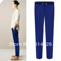 2013 New  Excellent Quality ZA** Fashion/ Women's Casual Pants/Ladies' Chiffon Trousers Women Clothing #SX9915
