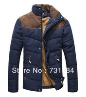New Arrival 2013 Men's Warm Cotton Parkas Military The Winter Outdoors Men Thickening Coat Big Size Overcoat Brand Down Jacket