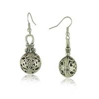 E1525 New Vintage Silver  long ball earrings chandelier earrings