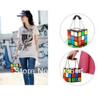 Fashion Women lovely Rubik's Cube Handbag Clutch bags
