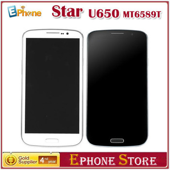 "Free Shipping! MTK6589T  Star U650 6.5"" 1.5GHz  Android 4.2 Quad Core 1GB+16GB 2GB+32GB 3800MAh*2 1920*1080 13MP+5MP T#"