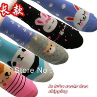 Promotion HIGH QUALITY baby girl or boy children polyester cotton in tube sock free shipping 1 lot =20pieces=10pairs