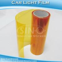 "SINO CAR STICKER 0.3x10m Free Shipping Orange Car Light Wrapping Film/Car Headlight Color Change Film  0.3x10M 12""x394"""