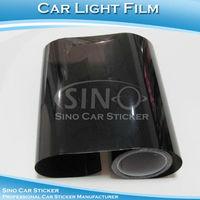 "SINO CAR STICKER 0.3x10M 12""x394"" Free Shipping Dark Black Car Light Vinyl Wrap Film/Car Headlight Sticker Paper"