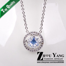 Top Quality ZYN372 Noble Crystal 18K White Gold Plated Fashion Pendant Jewelry Made with Austria Crystal  Wholesale(China (Mainland))