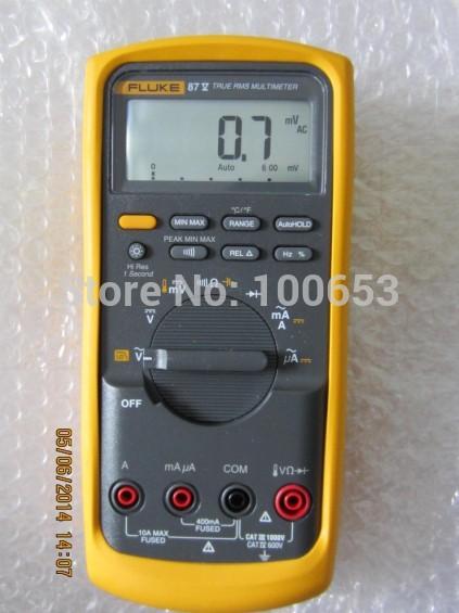 100% Brand new Fluke 87V 87-5 Industrial Multimeter True RMS Multimeter Digital Multimeter 1000V 10A(China (Mainland))