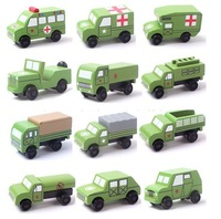 New Arrival Children Earlier Educational Wooden Toys Mini Cars Wood Car Japan Style High Quality 12 Models per Lot