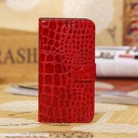 1pcs/lot Crocodile Croco Leather Card Holder Wallet Pouch Case for Samsung Galaxy S4 mini i9190 i9192 9190