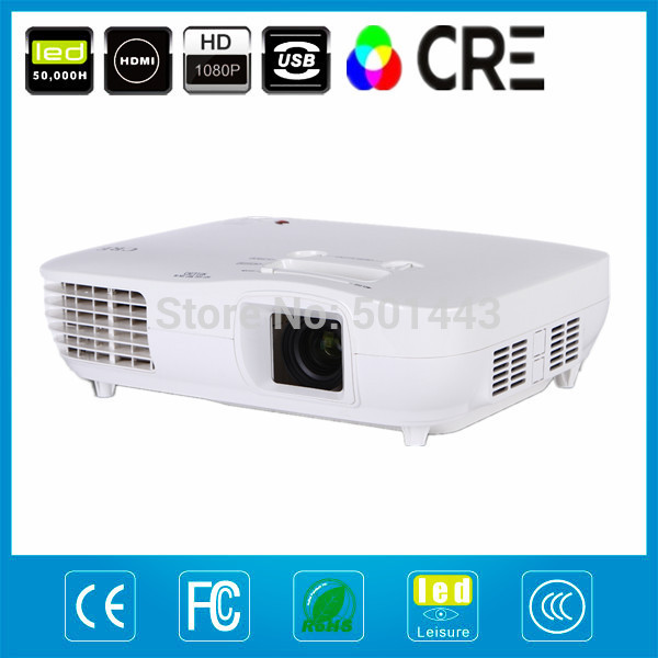 Low noise projector manufacturer 1080p projector built in HDMI, VGA ,S-Video , Composite A/V , 3RCA(China (Mainland))