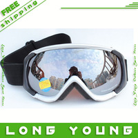 New 2013 high quality ski goggles Ski eyewear double layer windproof anti-fog anti-uv snow goggles ski glasses men,free ship