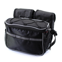 NEW 4 In 1 Bike Bicycle Cycling Frame Pannier Front Tube Bag Rain Cover Black