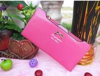 Hot 2014 New Fashion Women's Wallet PU Leather Pearl Slider Women Long Wallet Purse Clutch Wallet Coin Purse  SZMW08