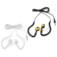 2pcs 3.5mm Sport Running Ear Hook White Black Earphone Headphone Headset for iPhone Samsung iPod MP3 MP4 iPhone MI2 iPad HTC