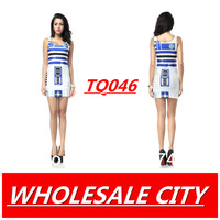 NEW HOT Sundress 2013 Fashion Women ARTOO2.0 galax Blue Print Galaxy Black Milk Dress NEW  MADE TO ORDER  Sleeveless Wholesale