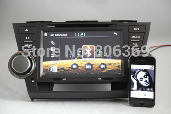 free shipping to Russian, Special Car radio with GPS Navi For TOYOTA Highlander whit DVD,BT,ATV,ipod,GPS,Radio,3G HOST+map gift