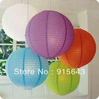 Lot of 20pcs Free Shipping 20CM Chinese Paper Lanterns Balloon lanterns Wedding Party Home & Festival Hanging Decoration Fiesta