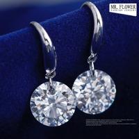 wholesale  2014 newest design  zircon pendant imitation 925 silver diamond cheap drop earrings women
