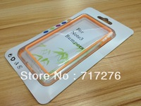 Lastest Bumper Frame PC + TPU Cases For Samsung Galaxy Note 3 III Note3 N9000 Bumpers Dual Color , retail Package ,50pcs/lot