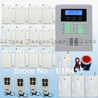 New Wireless 4 Bands GSM PSTN Dual Net 433/315 MHz Home Alarm Security System Auto dialling PIR motions door sensors