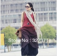 2013 summer tank dress suspenders one-piece dress JNBY linen dip dyeing medium skirt