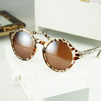 FREESHIPPING 2013 New Arrival Vintage Fashion Glasses Round Large Optical famous Sunglasses women High Quality Cheap Price