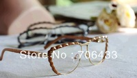 Free dropshipping High quality Half rim Jacket Eye glasses frames for women Fashion nerd glasses Designer 2013 G137