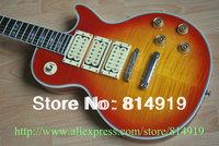 sunburst Ace frehley signature ebony fingerboard Electric Guitar with case Free Shipping