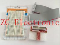 Raspberry pie Raspberry PI GPIO adapter plate gold plug-in version+400 tie points breadboard +GPIO cable kit for arduino