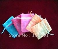Free shipping ! Purple Cone Organza Wedding Gift Pouches Bags 12x9cm