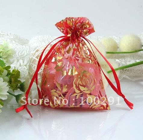 Free shipping!!500pc/lot Wholesale pure color September 9*12 CM hot stamping/ gift bag/jewelry bag/pearl yarn bag.(China (Mainland))