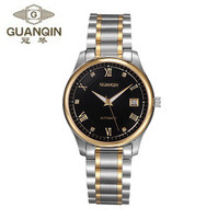 Guanqin Luminous Ultra-thin Luxury Movement Male Automatic Mechanical Commercial Men's Wristwatches 18k Gold Steel Watch